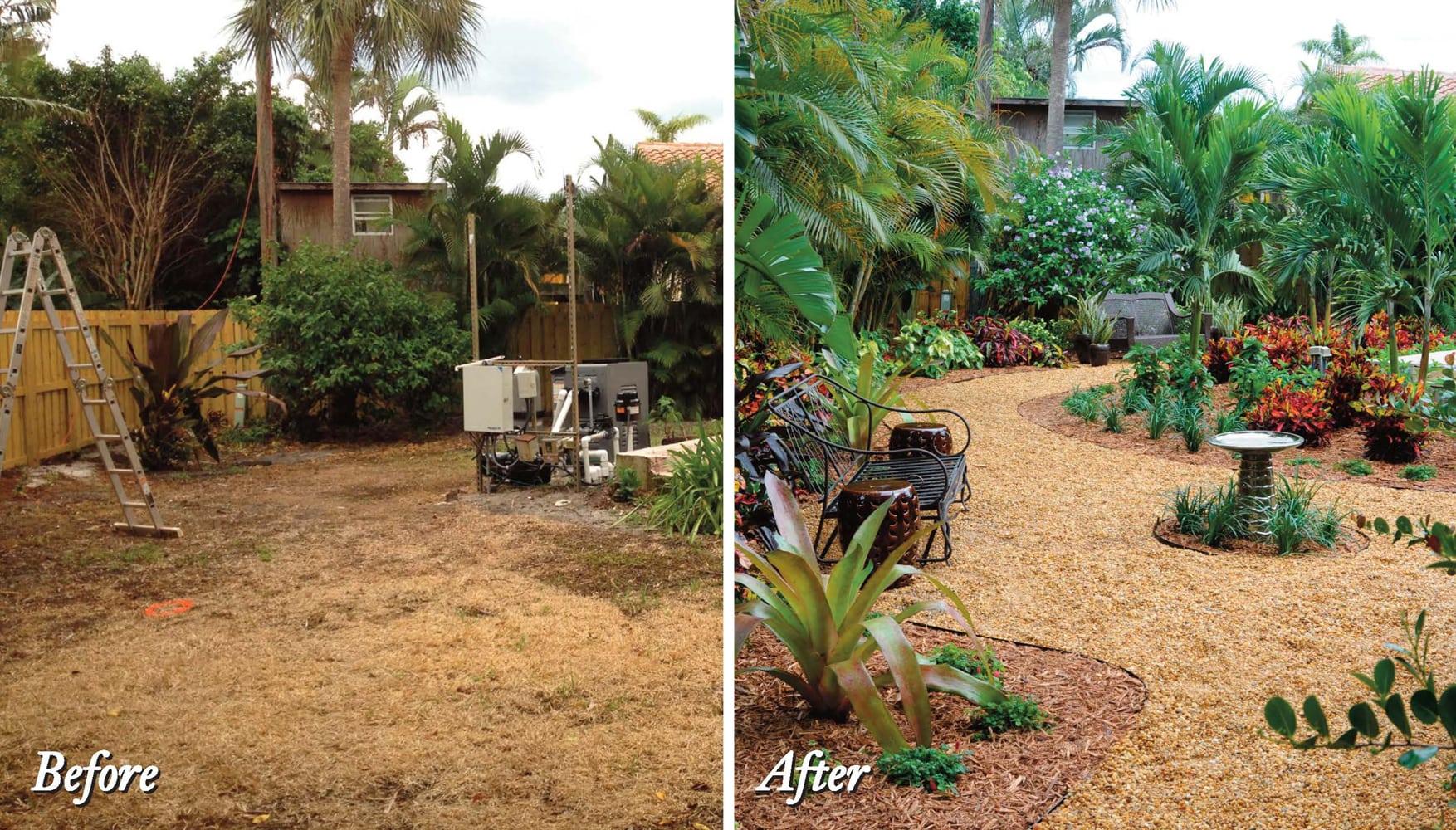 Boca Raton Landscape Makeover: Tropical Paradise