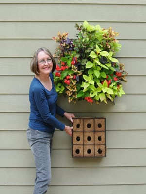 Living Wall Planters Are Planted From The Top But Hang Flat On A They