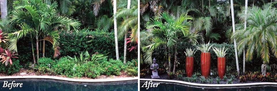 Container landscaping designer Boca Raton