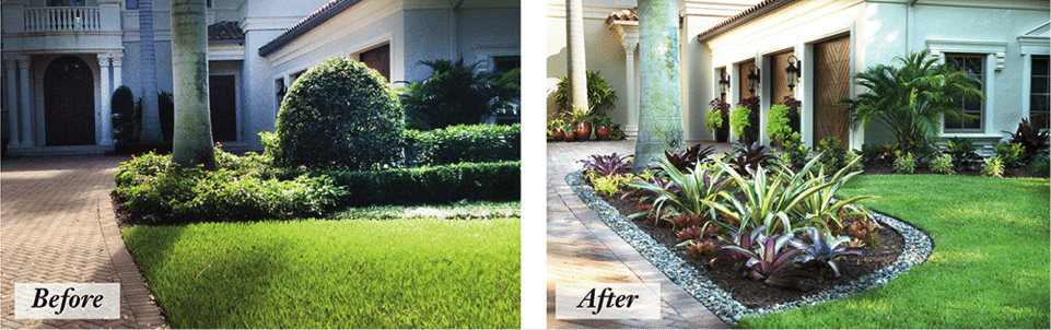 Landscape renovation Boca Raton