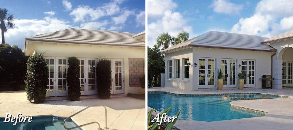 Backyard landscape renovations Boca Raton