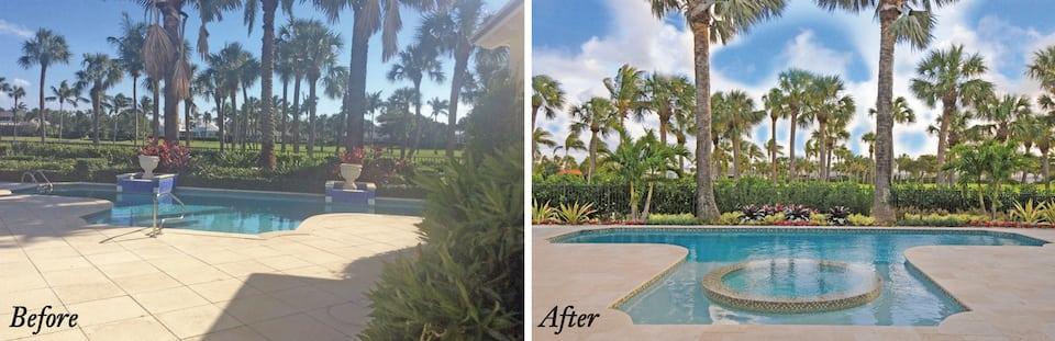 Pool landscaper Boca Raton